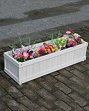 CAIJUN Blumenständer Blumentopf Regal Holz Blumentöpfe Rectangular Pflanzen Blumentöpfe Grün Vegetation Bonsai Outdoor Landschaft Pflanze Blumentöpfe ( Farbe : A , größe : 90cm )