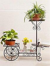 CAIJUN Blumenständer Continental Iron Fahrrad-Modelle Boden Flower Pot Regal, grün Dill hängende Orchidee Rack, Pflanzen stehen für Innen-, Wohnzimmer, Balkon ( Farbe : Bronze , größe : S )