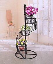CAIJUN Blumenständer Europäische Blumenständer Metall Blumentöpfe Regal Bügeleisen Creative Balkon Mehrstöckiges Wohnzimmer Treppenhaus Ornamente / Pflanze Racks