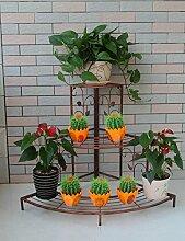 CAIJUN Blumenständer European-style Eisen-Blumen-Zahnstange, Fußboden-Leiter Mehrgeschossiges Ecken-Blumen-Zahnstange, Im Freienbalkone-Eckgarten-Pastellgestell ( Farbe : A2-85*65cm )