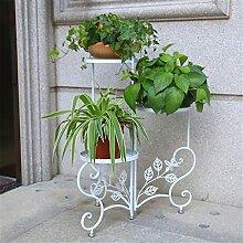 CAIJUN Blumenständer Floor Style Blumenständer Iron Flower Rack / Blumentopf Rack Multilayer Blumen Regal / Pflanze Rack / Topf Regal ( Farbe : A )