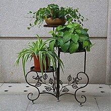 CAIJUN Blumenständer Floor Style Blumenständer Iron Flower Rack / Blumentopf Rack Multilayer Blumen Regal / Pflanze Rack / Topf Regal ( Farbe : B )