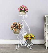 CAIJUN Blumenständer Iron Flower Racks Mehrgeschossiger Boden Balkon Blumentopf Rack / Blume Regal Wohnzimmer Einfache Pflanze Rack / Topf Regal ( Farbe : B )