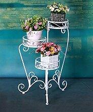 CAIJUN Blumenständer Iron Folding Flower Pot Racks Multi - Storey Garten Klassische Europäische - Style Flower Racks ( Farbe : A )