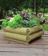 CAIJUN Blumenständer Korrosionsschutz Holz Karbonierte Blumentöpfe Balkon Quadratische Blumentöpfe Grüne Pflanzen Einfache Persönlichkeit Kreative Blumentöpfe ( Farbe : D , größe : 36cm )