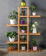 CAIJUN Blumenständer Massivholz Blume Rack Sukkulenten Pflanze Stand Holz Blumentopf Regal Wohnzimmer Indoor Balkon Rack ( größe : 95*28*126cm )