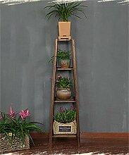 CAIJUN Blumenständer Massivholz Blumentopf Regal Pflanze Stand Balkon Wohnzimmer Ecke Holz Blume Rack ( Farbe : B , größe : 34*34*130cm )