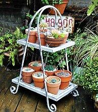 CAIJUN Blumenständer Pflanze Blumentopf Rack Retro Blumenständer Massivholz Multilayer Topf Rack Blumentöpfe Regal Pflanzung Rack
