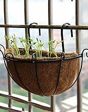 CAIJUN Blumenständer Pflanze Stand 3 Stück, Geländer Blume Rack Hanging Flower Töpfe Wand hängen Bonsai Frame ( Farbe : C )