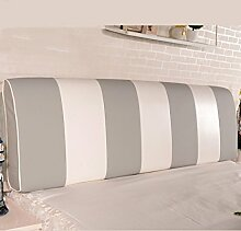 CAIJUN Color Matching Support Bedside Kissen Bett Kopf Kissen Soft Bag Lesung Rückenlehne Kopfteil Kissen-Allgemein (6 Größen) Stereo-Kissen ( Farbe : Grau , größe : 160*12*58cm )