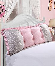 CAIJUN European Style Soft Bedside Support Kissen Soft Bag Kissen Abnehmbare Buttons-Twin Size / Full Size / Queen Size / King Size Stereo-Kissen ( Farbe : 6* , größe : 200*15*55CM )