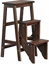 CAIJUN Klappleiter Stuhl Multifunktion Rutschfeste Haustreppen einfach, Hoch 77cm Klappstufen