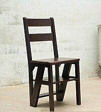 CAIJUN Massivholz Treppenstuhl Dual-Use Falten Regal 5 Schichten Aufsteigen Verformung Leiter Trittstühle, 3 Farben (Farbe : 3#)