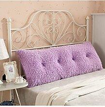 CAIJUN Multi-Funktions-Soft-Bedside-Kissen Doppelseitiges Design Reines / einfaches Bett-Stützkissen-Bett-Kopf-Kissen Einzelnes doppeltes Bett-Bett-weicher Beutel Großes Bett-Kissen-Bett-Rückenlehne, die mit weicher Abdeckung abnehmbar ist Stereo-Kissen ( Farbe : A , größe : 150*25*60CM )