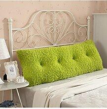 CAIJUN Multi-Funktions-Soft-Bedside-Kissen Doppelseitiges Design Reines / einfaches Bett-Stützkissen-Bett-Kopf-Kissen Einzelnes doppeltes Bett-Bett-weicher Beutel Großes Bett-Kissen-Bett-Rückenlehne, die mit weicher Abdeckung abnehmbar ist Stereo-Kissen ( Farbe : G , größe : 180*25*60CM )
