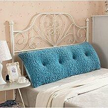 CAIJUN Multi-Funktions-Soft-Bedside-Kissen Doppelseitiges Design Reines / einfaches Bett-Stützkissen-Bett-Kopf-Kissen Einzelnes doppeltes Bett-Bett-weicher Beutel Großes Bett-Kissen-Bett-Rückenlehne, die mit weicher Abdeckung abnehmbar ist Stereo-Kissen ( Farbe : I , größe : 120*25*60CM )