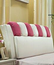 CAIJUN PU Unterstützung Bedside Kissen Bett Kopf Kissen Soft Bag Lesung Rückenlehne Kopfteil Kissen-Allgemein (6 Größen) Stereo-Kissen ( Farbe : 4* , größe : 190*12*65cm )