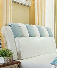 CAIJUN PU Unterstützung Bedside Kissen Bett Kopf Kissen Soft Bag Lesung Rückenlehne Kopfteil Kissen-Allgemein (6 Größen) Stereo-Kissen ( Farbe : 3* , größe : 180*12*65cm )