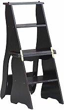 CAIJUN Stühle Sitze Hauptleiter Flip Falttreppenstuhl Massivholz Multifunktionsregale Dual-Use Kletterhocker, 4 Farben (Farbe : B)
