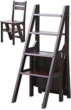 CAIJUN Stühle Sitze Zuhause Flip Faltleiter Mehrzweckregale Dual-Use Kletterhocker, 2 Farben (Farbe : B)