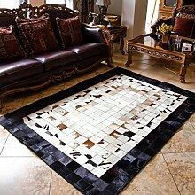 CAIJUN Teppiche Ältere Villa-Teppiche, Wohnzimmer, Schlafzimmer-Teppich-Matten, Matten (12 Farben wahlweise freigestellt) Bereich Teppiche (Farbe : A, größe : 1.2*1.8m)