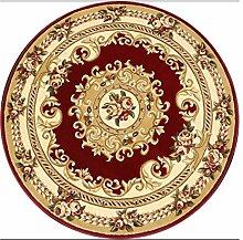 CAIJUN Teppiche Amerikaner Runde Teppich für Wohnzimmer, Esszimmer, Kaffee, Tisch, Stuhl Computer Mat Bereich Teppiche ( Farbe : A , größe : 1.0*1.0m )