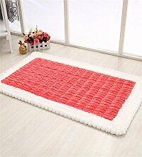 CAIJUN Teppiche Anti-Rutsch-Matten Einfache moderne Waschmaschine Wäsche Teppich Haushalt Home Pad Eingang Türmatten Bereich Teppiche (Farbe : E, größe : 50*80cm)