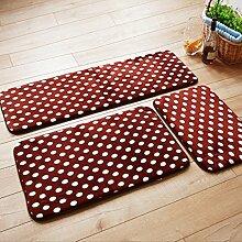 CAIJUN Teppiche Anti - Skid - Teppich - Pad - Fußmatte Bad Matten Roter Teppich Korallen Tuch Absorbierender Boden Matten, Braun Bereich Teppiche (größe : 40*120cm)