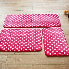 CAIJUN Teppiche Anti - Skid - Teppich Pad Fußmatte Bad Matten Roter Teppich Korallen Tuch Absorbierende Boden Matten, Pink Teppich Bereich Teppiche (größe : 40*60cm)