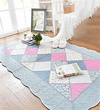 CAIJUN Teppiche Baumwolle Haushalt Türmatten Teppich Couchtisch Bedside Bett Pad saugfähig Rutschfest Bereich Teppiche (Farbe : A, größe : 70*210cm)