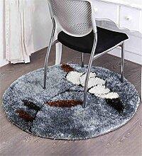 CAIJUN Teppiche Circular Gray Teppich Computer Kissen Couchtisch Matte Wohnzimmer Staubdicht Rutschfeste Mat 1 Meter Teppich Bereich Teppiche