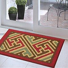 CAIJUN Teppiche Einfache Europäischen Anti-Rutsch-Teppich-Pad, Fußmatte, Eingangsmatte, Küche, Schlafzimmer, Nacht Teppich, 45 * 180cm Bereich Teppiche (Farbe : D, größe : 45*70cm)
