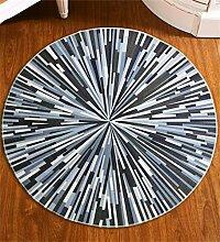 CAIJUN Teppiche Einfache Rundschreiben Teppich Hängekorb Computer Stuhl Mat Wohnzimmer Couchtisch Schlafzimmer Fenster Bodenbelag Bett Teppich Bereich Teppiche (größe : 80cm)