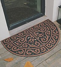 CAIJUN Teppiche Entstaubung Türmatten Anti-Rutsch-Fuß-Matte Eingangs-Pad-Teppich Solide Farbe Classic Durable Bereich Teppiche (Farbe : Braun)
