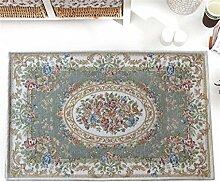 CAIJUN Teppiche Europa und die Vereinigten Staaten Pastoral Teppich Teppich Tür Mat kann Maschinen-gewaschen werden Bereich Teppiche (Farbe : B, größe : 70*140cm)