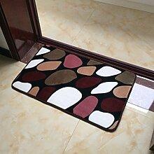 CAIJUN Teppiche Foyer absorbierende Bodenmatten, Wohnzimmer Schlafzimmer Küche rechteckigen Anti-Rutsch-Matten, Treppen Boden Matte Teppich Bereich Teppiche (größe : 70*140cm)