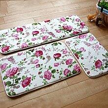 CAIJUN Teppiche Fußboden Matten Anti - Skid Teppich Pad Fußmatte Bad Matten Roter Teppich Korallen Tuch Absorbent Bereich Teppiche (Farbe : A, größe : 50*80cm)