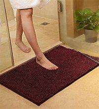 CAIJUN Teppiche Plain Color Fußboden Matte Teppiche Chenille Garn Anti - Gleiten/Slip saugfähigen Pad Badezimmer WC Hall Küche Fuß Teppich Bereich Teppiche (Farbe : B, größe : 50*80cm)