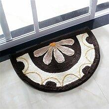 CAIJUN Teppiche Semicircle Teppich Anti-Rutsch-Wasserabsorbierung Badematten Fußmatte ländlichen Wohnzimmer Staubdicht Teppich 45 * 70cm Bereich Teppiche (Farbe : A)