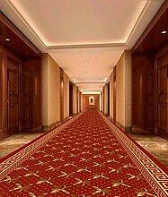 CAIJUN Teppiche Thick Office Hotel Aisle Teppich, Treppen Korridor Voll Flur Stoff Teppich, Festlicher Roter Teppich Bereich Teppiche (größe : 1.0*11m)