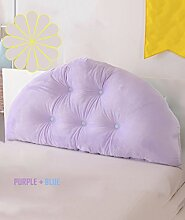 CAIJUN weich Samt Bedside-Stützkissen verschmust Bed Head Pillow Leseständer abnehmbares Knöpfe- Baby-Bett / Twin Size / Full Size / Queen-Size / king Size Stereo-Kissen ( Farbe : 1* , größe : 120*10*70CM )