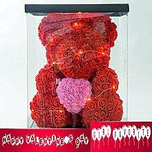 CAJOLG Dekoration Rose Bear Teddy Cub Forever