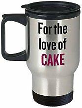 Cake Lover Reisebecher, Geschenkidee für Bäcker