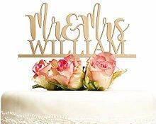 Cake Topper Hochzeit personalisiert Holz mit Namen