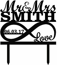 Cake Topper Infinity Symbol With Love Mr And Mrs