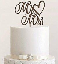 Cake Topper, Mr & Mrs, Tortenstecker, Tortefigur