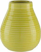 Calabaza Keramik (Gelb) / Mate Tee Becher für den traditionellen Yerba Mate aus Artgentninien