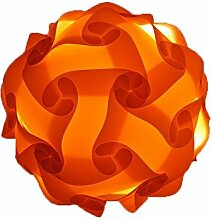 Calabi-Yau Puzzle-Lampe in 6 Farben 15 Aufbaumöglichkeiten Ø 17 cm (orange)
