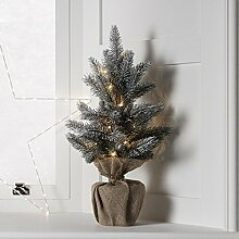 Caledonia 15er LED Mini Tannenbaum warmweiß Timer batteriebetrieben Lights4fun