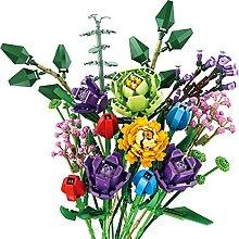 CALEN Blumenstrauß Baustein, 999 Teile 17 Blumen